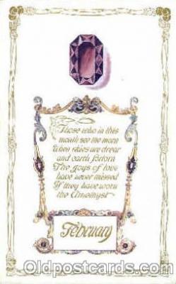 bir001018 - February Birth Stone Postcard Post Card
