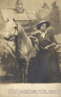 bla000003 - Black, Blacks, Real Photo Postcard Post Card