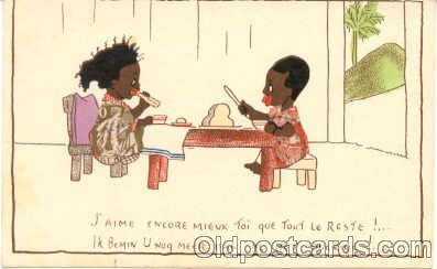 bla001047 - Black Blacks Postcard Post Card