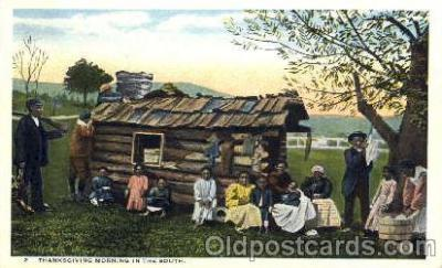 bla001125 - Thanksgiving Morning Black Blacks Postcard Post Card