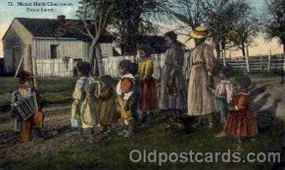 bla001128 - Music Hath Charms in Dixie LandBlack Blacks Postcard Post Card