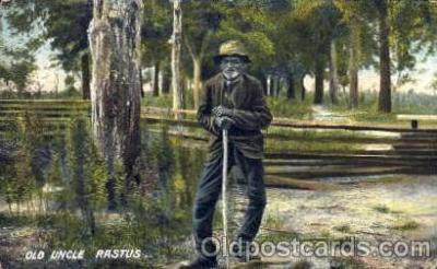 bla001163 - Old Uncle Rastus Black Blacks Postcard Post Card
