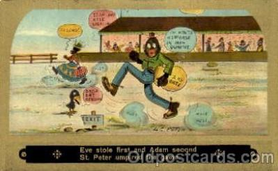 bla001193 - Baseball Black Blacks Postcard Post Card