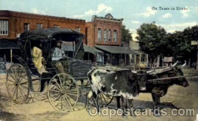 bla001195 - Ox Team in Dixie Black Blacks Postcard Post Card