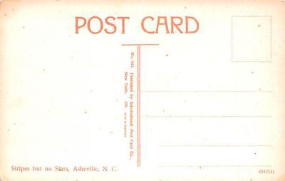 bla001216 - Stripes, Asheville, North Carolina, USA Black Blacks Postcard Post Card  back
