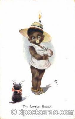 bla001221 - The Little Beggar Black Blacks Postcard Post Card
