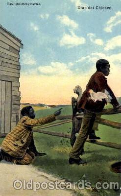 bla001222 - Drap dat Chicken Black Blacks Postcard Post Card