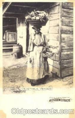 bla001235 - Vegetable Vender Black Blacks Postcard Post Card