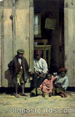 bla001238 - Taking their Sun Bath Black Blacks Postcard Post Card
