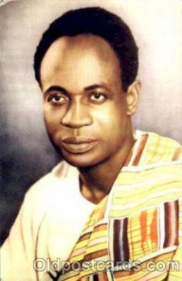 bla001239 - Prime Minister Kwame Nkrumah's Black Blacks Postcard Post Card