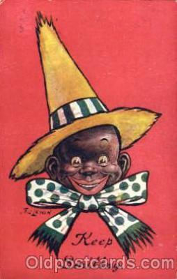bla001241 - Keep Smiling Black Blacks Postcard Post Card