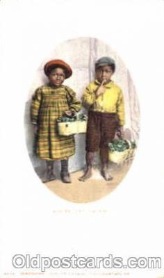 bla001267 - Bashful Billy & Sister Black Blacks Postcard Post Card