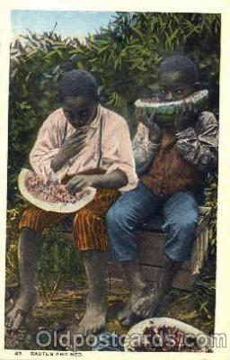 bla001281 - Rastus & Ned Black Blacks Postcard Post Card