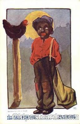 bla001300 - Black Blacks Postcard Post Card