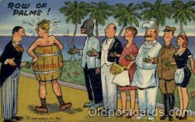 bla001533 - Tropical Florida Comics Black, Blacks Post Card Post Card