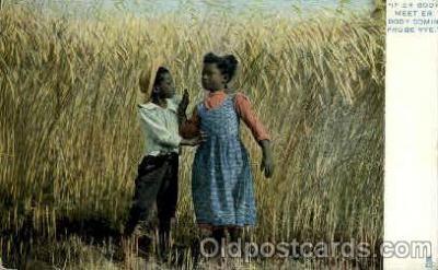 bla001543 - Raphael tuck and sons Series 3- On the old Plantation Black, Blacks Post Card Post Card