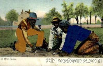 bla001550 - A quite game, Silk Postcard Black, Blacks Post Card Post Card