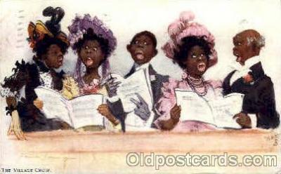 bla001566 - The village choir Black, Blacks Post Card Post Card