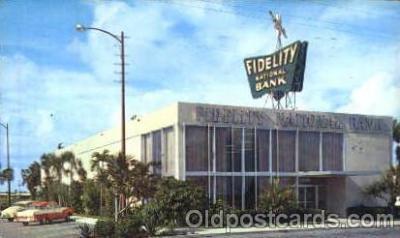 bnk001002 - Fidelity National Bank  Broward Blvd, Fort Lauderdale, Florida USA Postcard Post Card