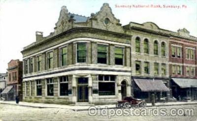 bnk001015 - Sunbury National Bank, Sunbury, Pennsylvania USA Postcard Post Card