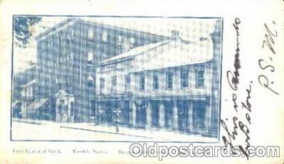 bnk001022 - First National Bank, Sunbury Pennsyslvania, USA Postcard Post Card