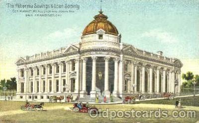 bnk001026 - The Albernia Savings & Loan Society, San Francisco, California, USA Postcard Post Card