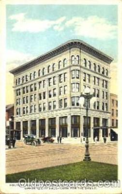 bnk001035 - Holyoke National Bank Building, Holyoke, Massachusetts, USA Postcard Post Card