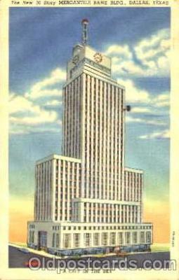 bnk001037 - Mercantile Bank Building, Dallas Texas, USA Postcard Post Card
