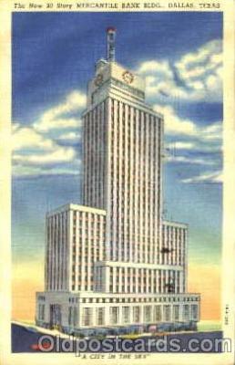 bnk001039 - Mercantile Bank Building, Dallas Texas, USA Postcard Post Card