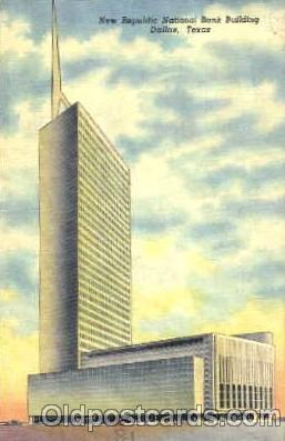 bnk001044 - New Republic National Bank Building Dallas, Texas, USA Postcard Post Card