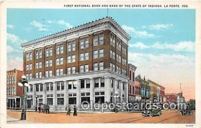 bnk001073 - First National Bank & Bank of the State of Indiana La Porte, Indiana, USA Postcard Post Card