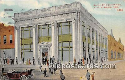 bnk001075 - Bank of Commerce Little Rock, Arkansas, USA Postcard Post Card