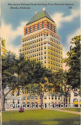bnk001088 - Merchants National Bank Building Bienville Square, Mobile, Arizona, USA Postcard Post Card