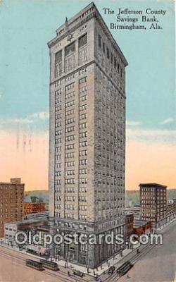 bnk001092 - Jefferson County Savings Bank Birmingham, Alabama, USA Postcard Post Card