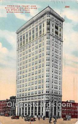 bnk001093 - American Trust & Savings Bank Building Birmingham, Alabama, USA Postcard Post Card