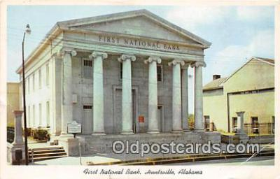 bnk001096 - First National Bank Huntsville, Alabama, USA Postcard Post Card