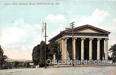 bnk001097 - First National Bank Huntsville, Alabama, USA Postcard Post Card