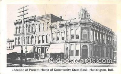 bnk001100 - Community State Bank Huntington, Indiana, USA Postcard Post Card