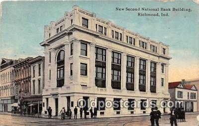 bnk001102 - New Second National Bank Building Richmond, Indiana, USA Postcard Post Card