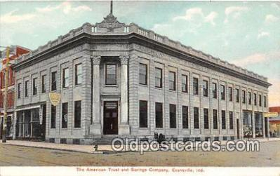 bnk001106 - American Trust & Savings Company Evansville, Indiana, USA Postcard Post Card