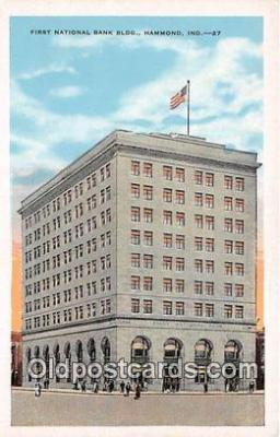 bnk001110 - First National Bank Building Hammond, Indiana, USA Postcard Post Card