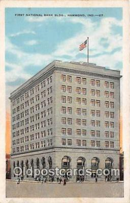 bnk001111 - First National Bank Building Hammond, Indiana, USA Postcard Post Card