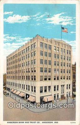 bnk001115 - Anderson Bank & Trust Co Anderson, Indiana, USA Postcard Post Card