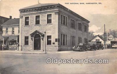 bnk001117 - First National Bank Harrington, Delaware, USA Postcard Post Card