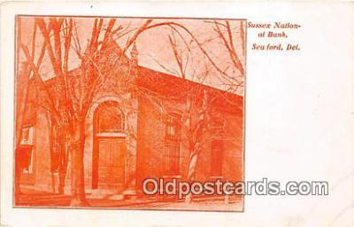 bnk001118 - Sussex National Bank Seaford, Delaware, USA Postcard Post Card