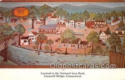bnk001120 - National Iron Bank Cornwall Bridge, Connecticut, USA Postcard Post Card