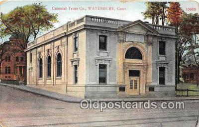 bnk001141 - Colonial Trust Co Waterbury, Connecticut, USA Postcard Post Card