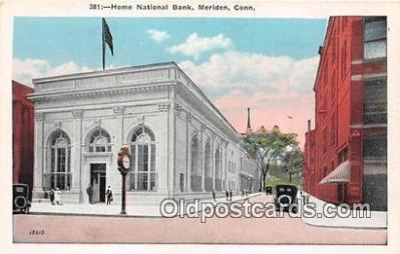bnk001142 - Home National Bank Meriden, Connecticut, USA Postcard Post Card
