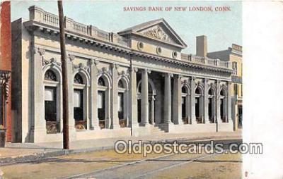 bnk001143 - Savings Bank of New London New London, Connecticut, USA Postcard Post Card