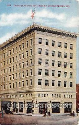 bnk001163 - Exchange National Bank Building Colorado Springs, Colorado, USA Postcard Post Card